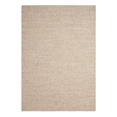 Abymes Quadrant Hand-Woven Beige Area Rug Rug Size: 79 x 99