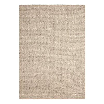Abymes Quadrant Hand-Woven Beige Area Rug Rug Size: 4 x 6