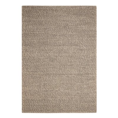 Abymes Quadrant Hand-Woven Gray Area Rug Rug Size: 53 x 75