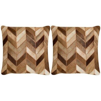 Ahlat Cowhide Throw Pillow Size: 22 H x 22 W x 2 D