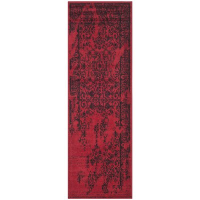 Costa Mesa Red/Black Area Rug Rug Size: Runner 26 x 6
