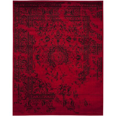 Costa Mesa Red/Black Area Rug Rug Size: 4 x 6