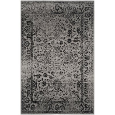 Costa Mesa Gray/Black Area Rug Rug Size: 4 x 6