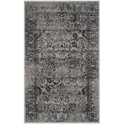 Costa Mesa Gray/Black Area Rug Rug Size: 3 x 5