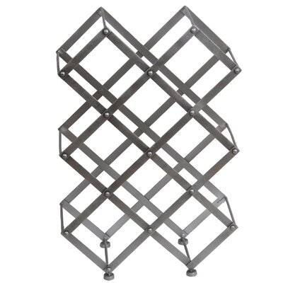 Elmhurst 9 Bottle Floor/Wall Mounted Wine Rack