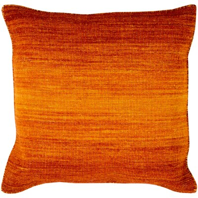Boyd Wool Throw Pillow Size: 22 H x 22 W x 4 D, Color: Tangerine/ Burnt Orange