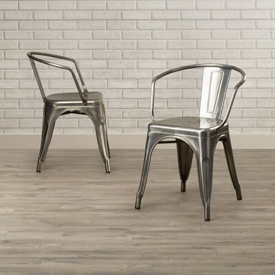 Buellton Arm Chair Finish: Antique Gun Metal
