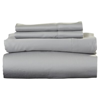 Ferndale 4 Piece 800 Thread Count Egyptian Quality Cotton Sheet Set Size: King, Color: Silver Grey