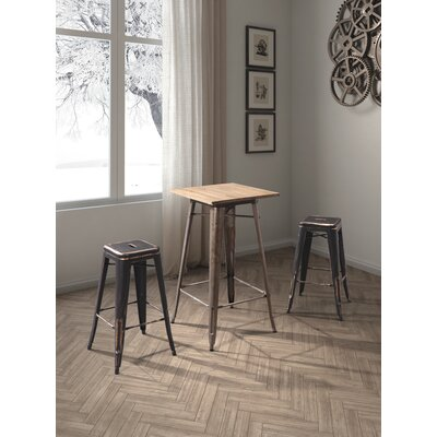 East Palo Alto 29.3 Bar Stool Finish: Antique Black Gold