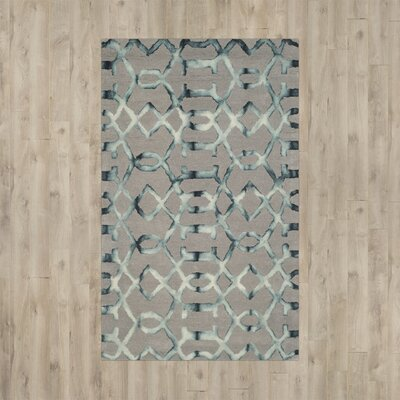 Kinder Hand-Tufted Gray/Charcoal Wool Area Rug Rug Size: 3 x 5