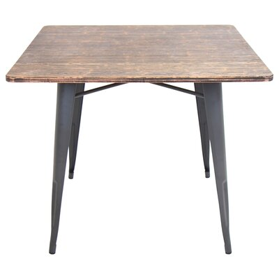 Ashberry Dining Table Top Finish: Bamboo, Base Finish: Gray