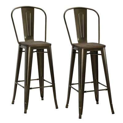 Fortuna 29.5 Bar Stool Finish: Copper