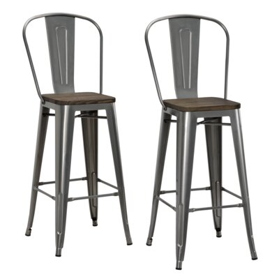 Fortuna 29.5 Bar Stool Finish: Antique Gun Metal