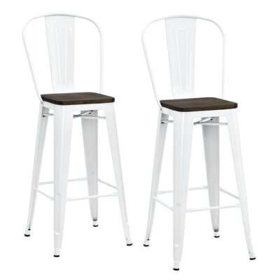 Fortuna 29.5 Bar Stool Finish: White