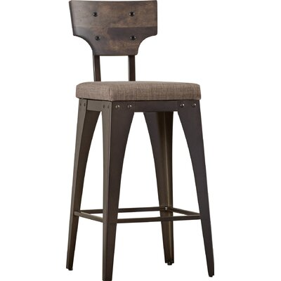 Coatbridge 26.88 Bar Stool Finish: Semi-Transparent/Warm Medium Grey/Medium Dark Gray
