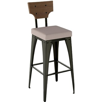 Coatbridge 30.88 Bar Stool Finish: Semi-Transparent/Warm Grey/Medium Brown