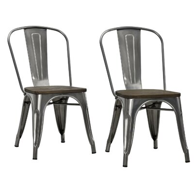 Fortuna Side Chair Finish: Antique Gun Metal