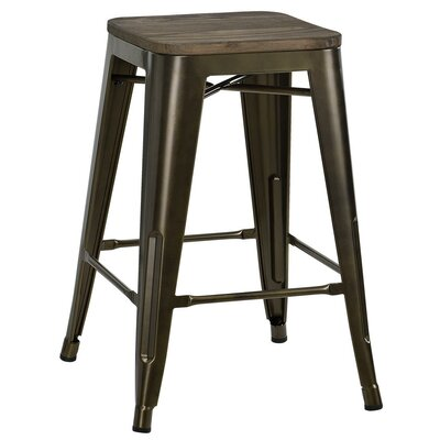Fortuna 24 Bar Stool Color: Copper