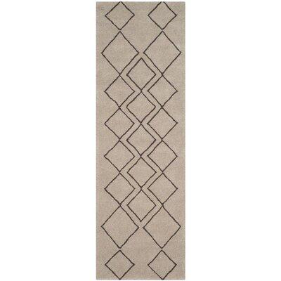 Cherico Hand-Tufted Light Gray/Dark Gray Area Rug Rug Size: Runner 26 x 8