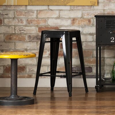 Burlywood 17.3 Bar Stool Upholstery: Blue