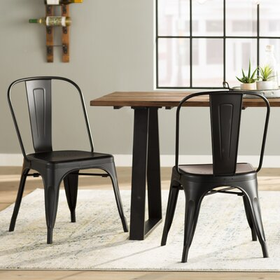 South Gate Side Chair Set (Set of 2) Finish: Black