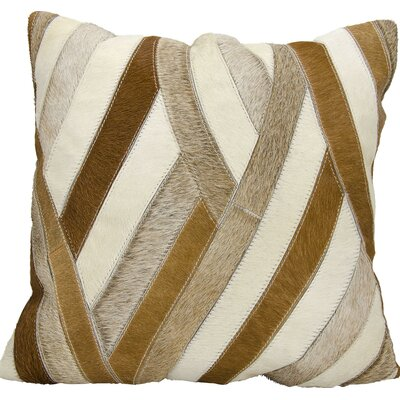 Anderson Natural Leather Hide Throw Pillow Color: Amber/Burgundy