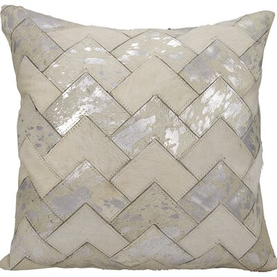 Carentan Throw Pillow Color: White/Silver