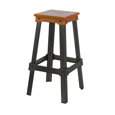 Michaela 29.5 Bar Stool Seat Color: Orange