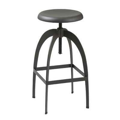 Indio Adjustable Height Swivel Bar Stool Upholstery: Gunmetal