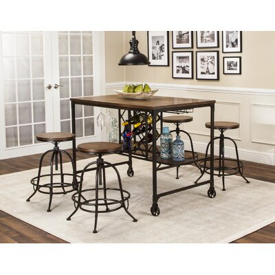 Cralcum 5 Piece Pub Table Set
