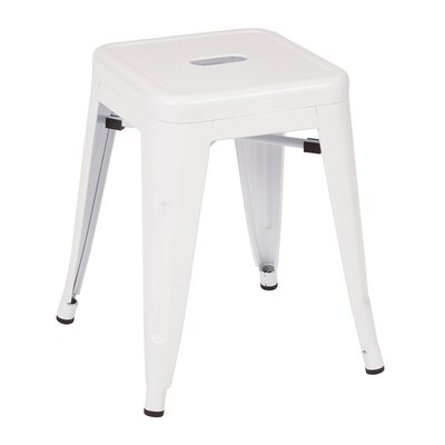 Peetz 18 Bar Stool (Set of 4) Finish: White