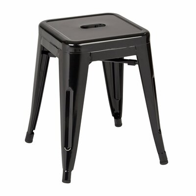 Peetz 18 Bar Stool (Set of 4) Finish: Black