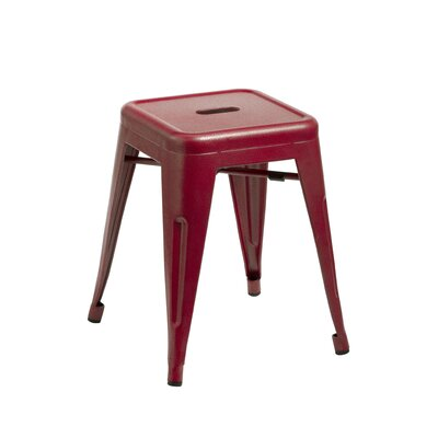 Peetz 18 Bar Stool (Set of 4) Finish: Red