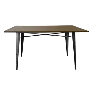 Caddo Dining Table Base Finish: Gunmetal
