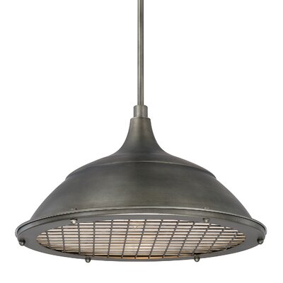 Sondra 1-Light Bowl Pendant Finish: Gunmetal