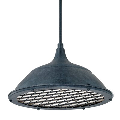 Sondra 1-Light Bowl Pendant Finish: Weathered Zinc