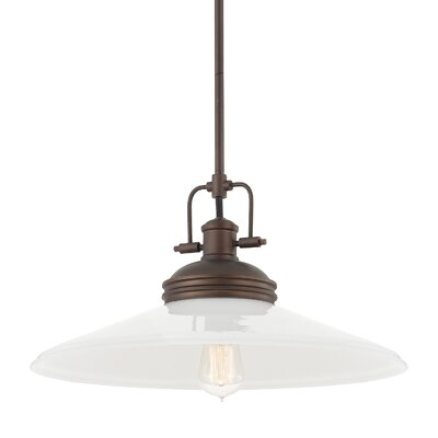Halima 1-Light Bowl Pendant Finish: Burnished Bronze