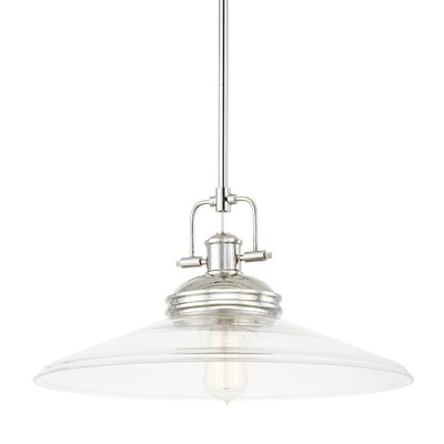 Halima 1-Light Bowl Pendant Finish: Polished Nickel