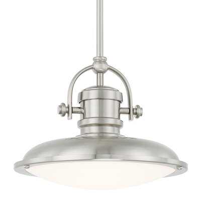 Demona Bowl Pendant Finish: Polished Nickel, Size: 59 H x 15.75 W 15.75 D