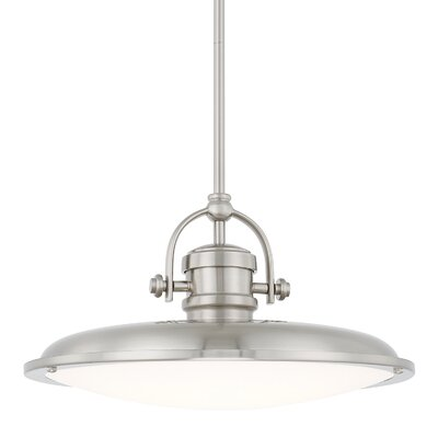 Asuka Bowl Pendant Finish: Brushed Nickel, Size: 59 H x 15.75 W 15.75 D