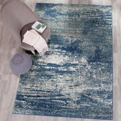Baldwin Park Navy/Ivory Area Rug Rug Size: Rectangle 4 x 6