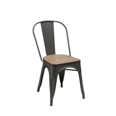 Ellis Side Chair (Set of 4) Finish: Gunmetal
