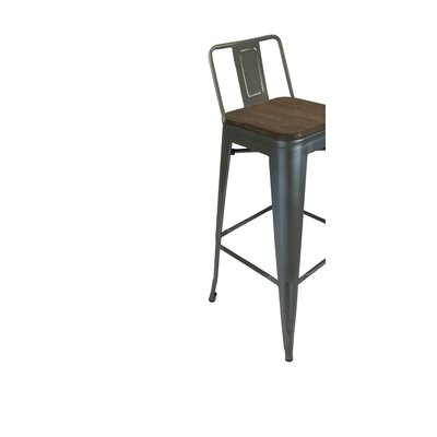 Peetz 30 Bar Stool (Set of 4) Finish: Gunmetal