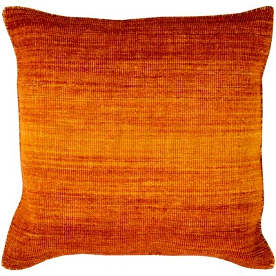 Somers 100% Wool Throw Pillow Cover Color: OrangeOrange, Size: 22 H x 22 W x 0.25 D