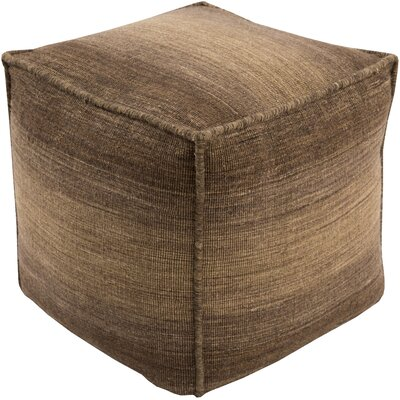 Somers Pouf Ottoman Upholstery: Brown