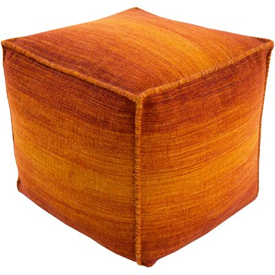 Somers Pouf Ottoman Upholstery: Orange