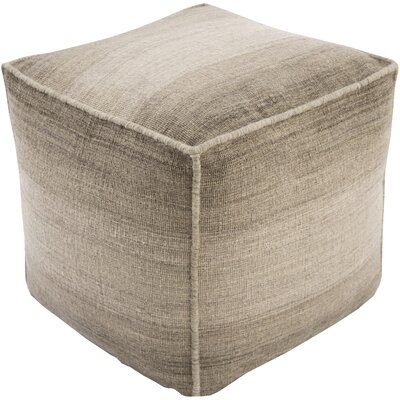 Somers Pouf Ottoman Upholstery: Light Gray