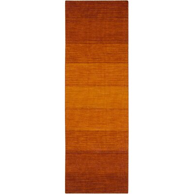 Somers Hand Woven Wool Orange Area Rug Rug Size: Runner 26 x 8
