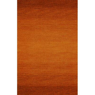Somers Hand Woven Wool Orange Area Rug Rug Size: Rectangle 8 x 11