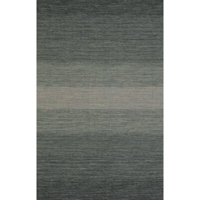 Somers Hand-Woven Gray/Black Area Rug Rug Size: 5 x 8